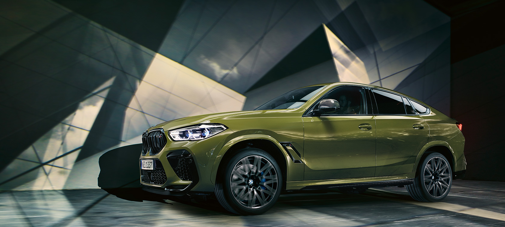 The all-new BMW X6 M Automobiles BMW Individual Special Paint Urban Green F96 2020